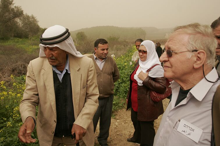 """Knowing is the Beginning"" - PCFF members visiting a village which existed before 1948 , called Ekbeba. (2007)"