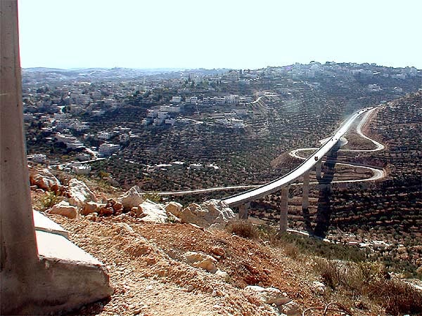 PHOTO: Tal Adler  -  Israeli-only roads in the Israeli-occupied Palestinian West Bank
