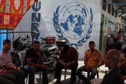 gaza-refugees-protest-unwra-headquarters-gaza