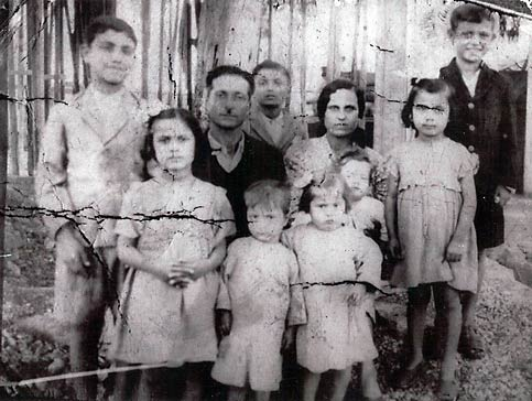 The Ayoub family in Palestine, in 1948, as the family was being expelled to Lebanon.